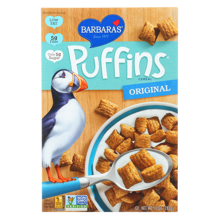 Barbara's Bakery Puffins Cereal - Original - Case Of 12 - 10 Oz.