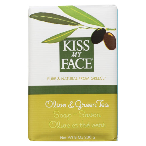 Kiss My Face Bar Soap Olive And Green Tea - 8 Oz