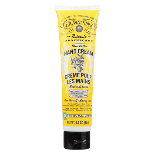 J.r. Watkins Shea Butter Hand Cream Lemon Cream - 3.3 Oz