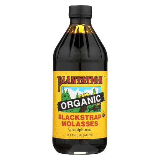 Plantation Organic Blackstrap Molasses Syrup - Case Of 12 - 15 Oz.