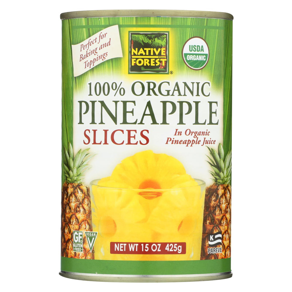 Native Forest Organic Slices - Pineapple - Case Of 6 - 15 Oz.