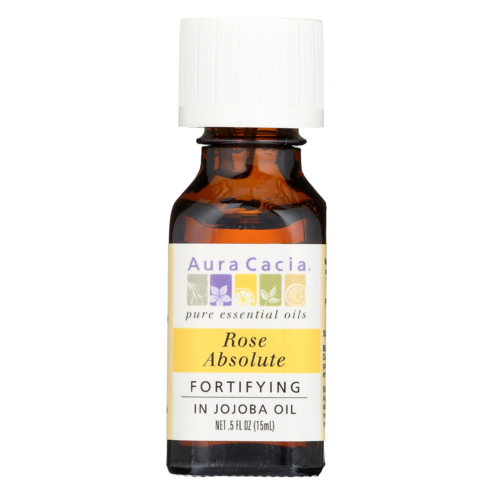 Aura Cacia Rose Absolute In Jojoba Oil - 0.5 Fl Oz