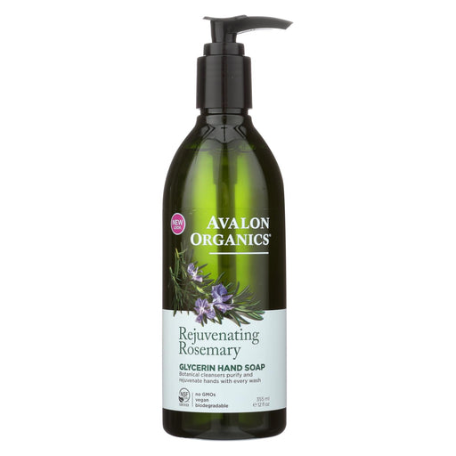 Avalon Organics Glycerin Liquid Hand Soap Rosemary - 12 Fl Oz