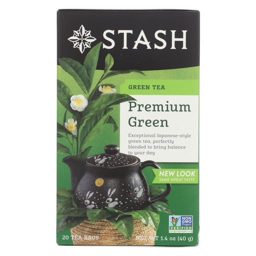 Stash Tea Organic Green Tea - Premium - Case Of 6 - 20 Bags