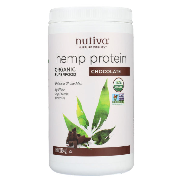 Nutiva Organic Hemp Shake Chocolate - 16 Oz