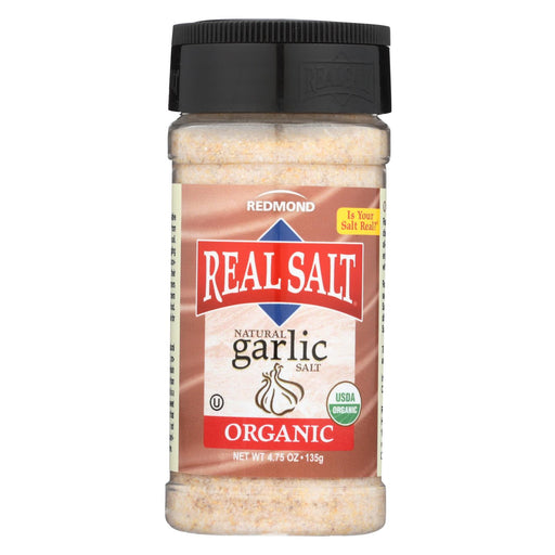 Real Salt Garlic Salt - Organic - Case Of 6 - 4.75 Oz.