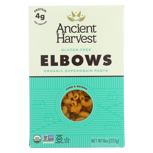Ancient Harvest Organic Quinoa Supergrain Pasta - Elbows - Case Of 12 - 8 Oz
