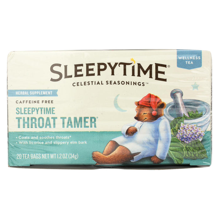 Celestial Seasonings Throat Tamer Herbal Tea - Case Of 6 - 20 Bag