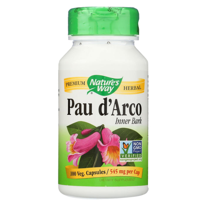 Nature's Way Pau D'arco Inner Bark - 100 Capsules