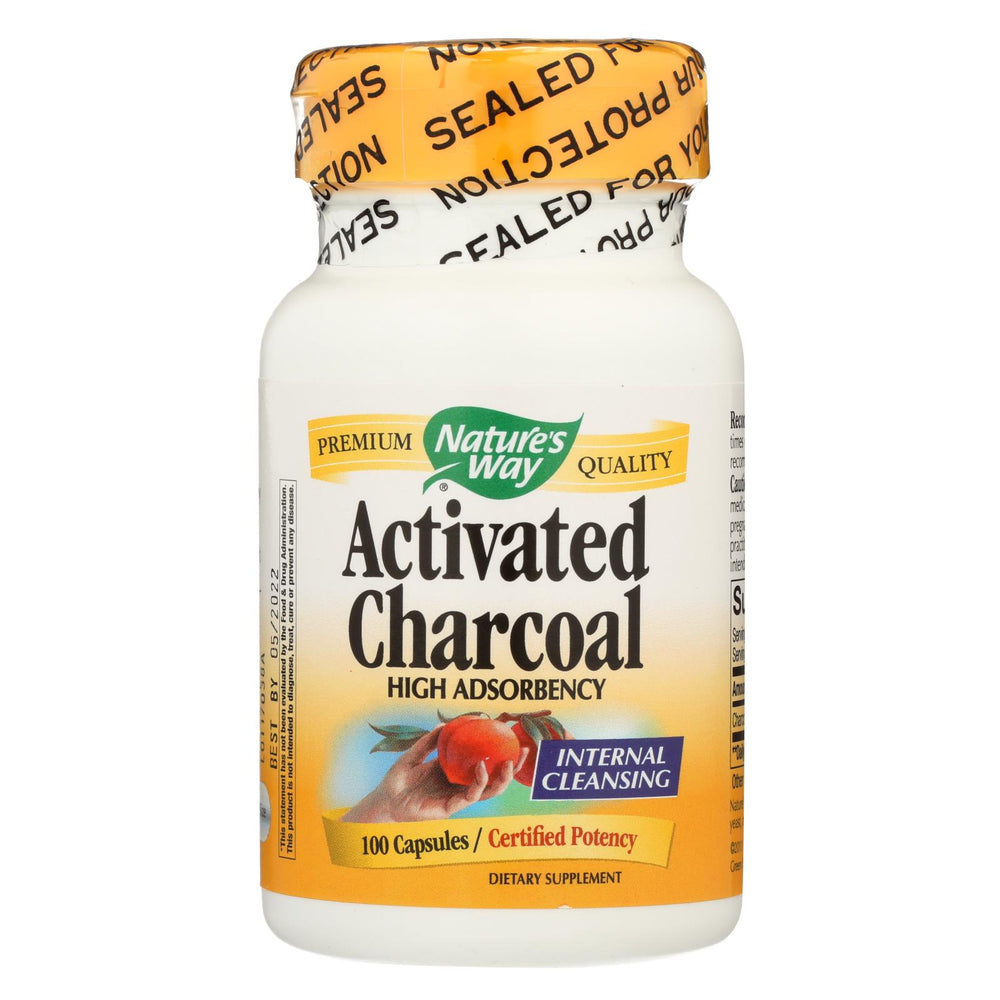 Nature's Way Activated Charcoal Hi Pot - 100 Caps