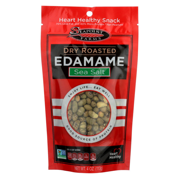 Seapoint Farms Dry Roasted Edamame - Sea Salt - Case Of 12 - 4 Oz.