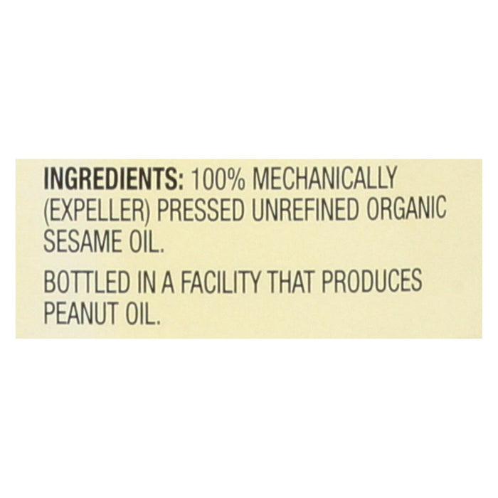 Spectrum Naturals Organic Unrefined Sesame Oil - Case Of 6 - 8 Fl Oz.