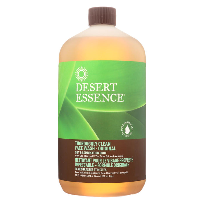 Desert Essence Thoroughly Clean Face Wash - Original Oily And Combination Skin - 32 Fl Oz