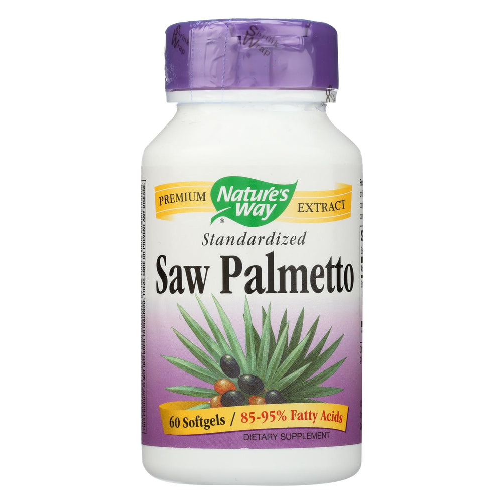 Nature's Way Saw Palmetto Standardized - 60 Softgels