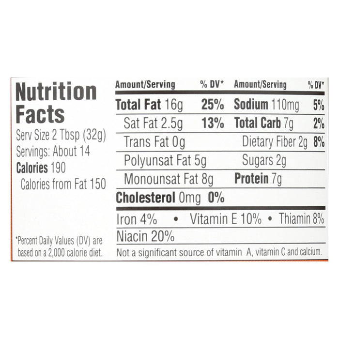 Earth Balance Crunchy Peanut Butter And Flaxseed - Case Of 12 - 16 Oz.