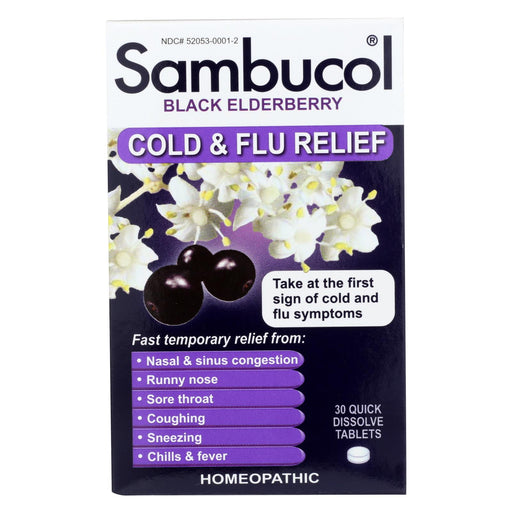 Sambucol Black Elderberry Cold And Flu Relief - 30 Lozenges