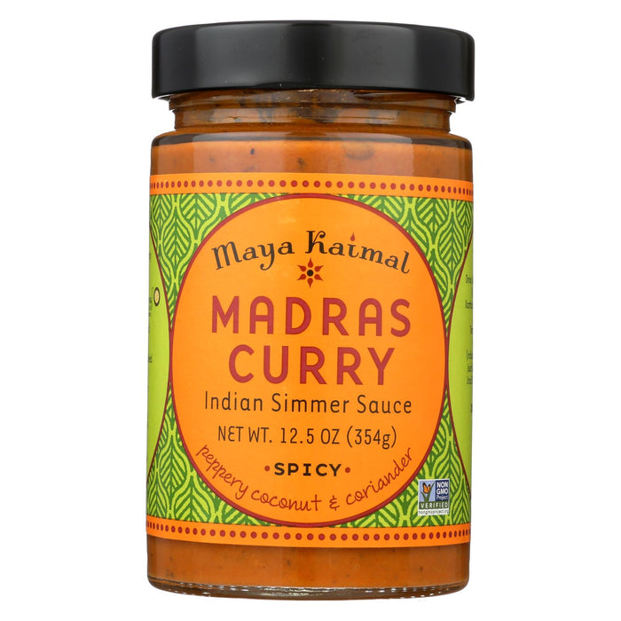 Maya Kaimal Madras Curry Simmer Sauce - Case Of 6 - 12.5 Oz.