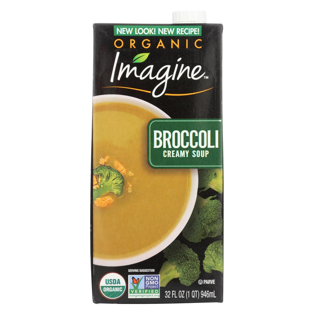 Imagine Foods Broccoli Soup - Creamy - Case Of 12 - 32 Oz.