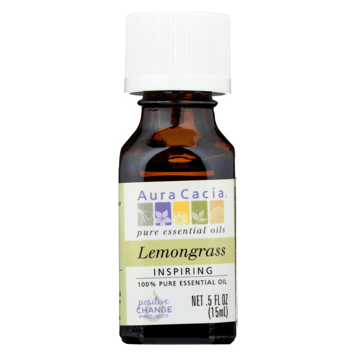Aura Cacia Pure Essential Oil Lemongrass - 0.5 Fl Oz