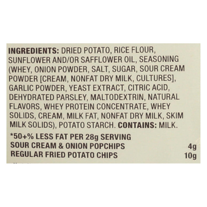Popchips Potato Chip - Sour Cream And Onion - Case Of 24 - 0.8 Oz.