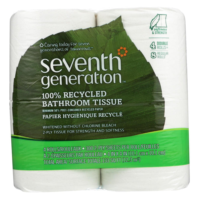 Seventh Generation Bathroom Tissue - Case Of 12 - 300 Count