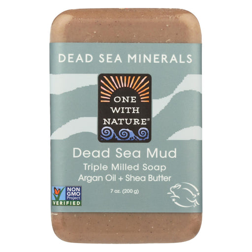 One With Nature Dead Sea Mineral Dead Sea Mud Soap - 7 Oz