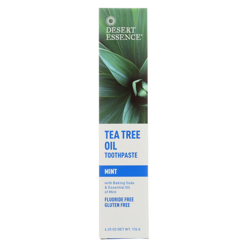Desert Essence Natural Tea Tree Oil Toothpaste Mint - 6.25 Oz
