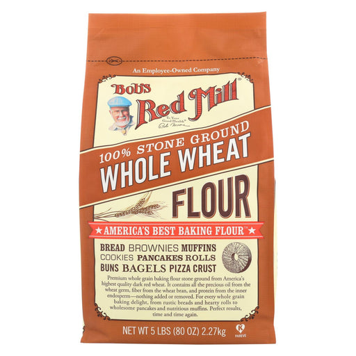 Bob's Red Mill Whole Wheat Flour - 5 Lb - Case Of 4