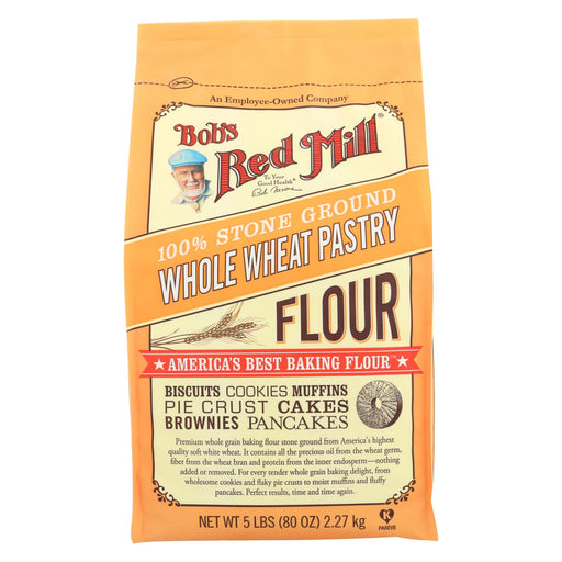 Bob's Red Mill Whole Wheat Pastry Flour - 5 Lb - Case Of 4