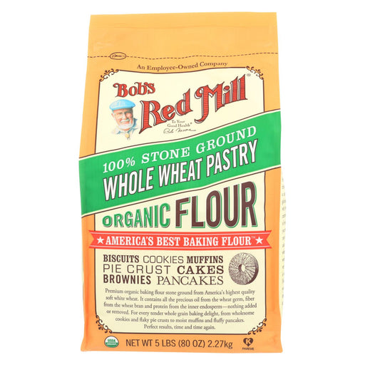 Bob's Red Mill Organic Whole Wheat Pastry Flour - 5 Lb - Case Of 4