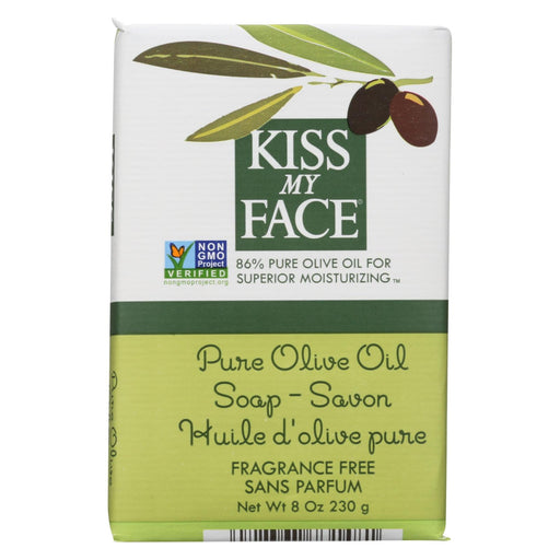 Kiss My Face Bar Soap Pure Olive Oil Fragrance Free - 8 Oz