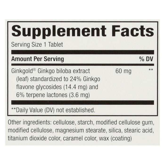 Nature's Way Ginkgold - 150 Tablets
