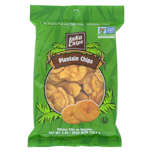 Inka Crops Plantain Chips - Original - Case Of 12 - 4 Oz.
