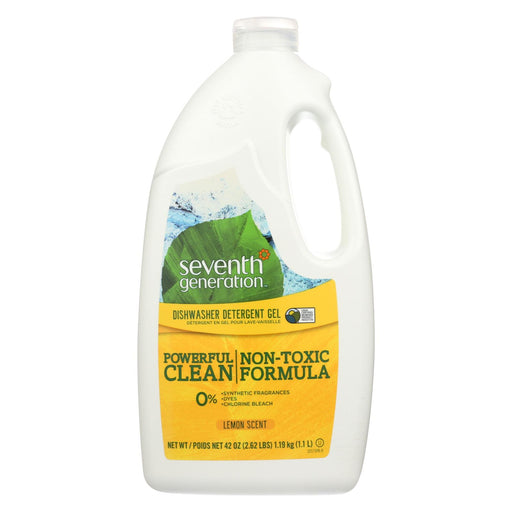 Seventh Generation Auto Dishwasher Gel - Lemon - Case Of 6 - 42 Fl Oz.