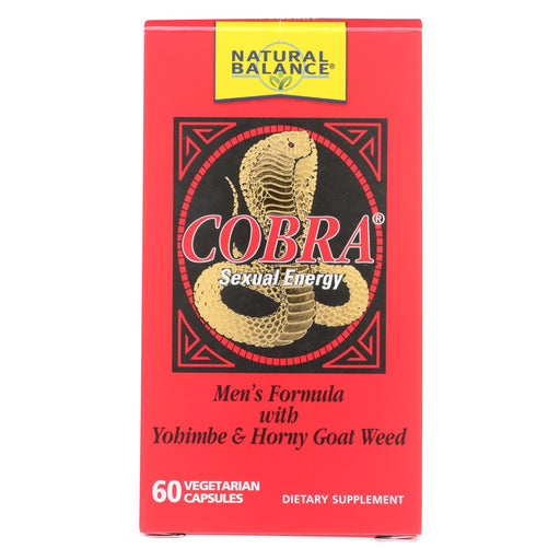 Natural Balance Cobra Sexual Energy - 60 Vegetarian Capsules