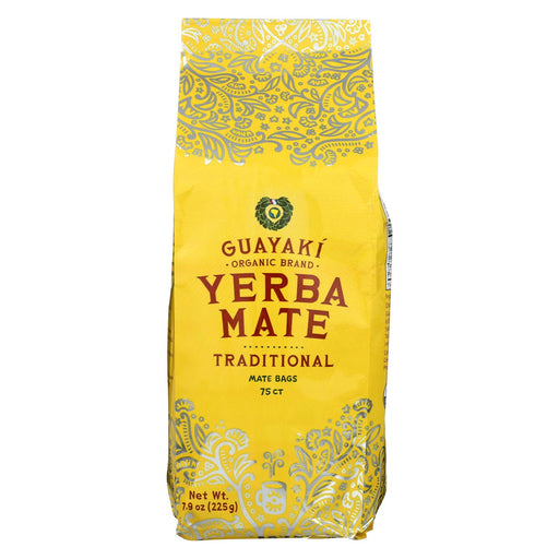 Guayaki Yarba Mate  Tea Bags - Traditional - Case Of 6 - 75 Bags