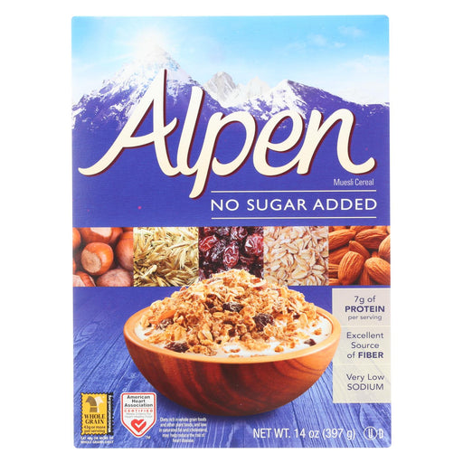 Alpen No Added Sugar Muesli Cereal - Case Of 12 - 14 Oz.