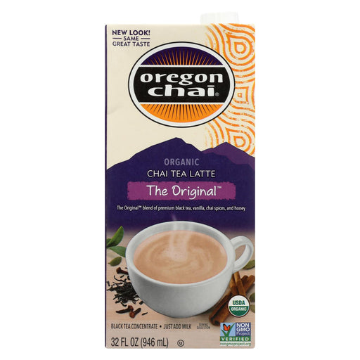 Oregon Chai Tea Latte Concentrate - The Original - Case Of 6 - 32 Fl Oz.