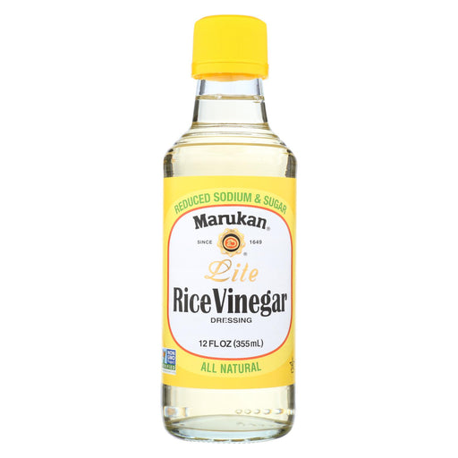 Marukan Rice Vinegar Lite - Seasoned Gourmet - Case Of 6 - 12 Oz.