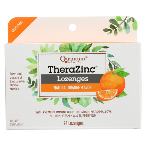 Quantum Therazinc Cold Season Plus Lozenges Orange - 14 Mg - 24 Lozenges