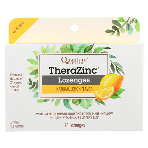 Quantum Therazinc Cold Season Plus Lozenges Lemon - 14 Mg - 24 Lozenges