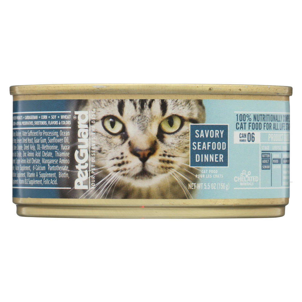 Petguard Cat Food - Savory Seafood Dinner - Case Of 24 - 5.5 Oz.
