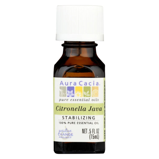Aura Cacia Pure Essential Oil Citronella Java - 0.5 Fl Oz