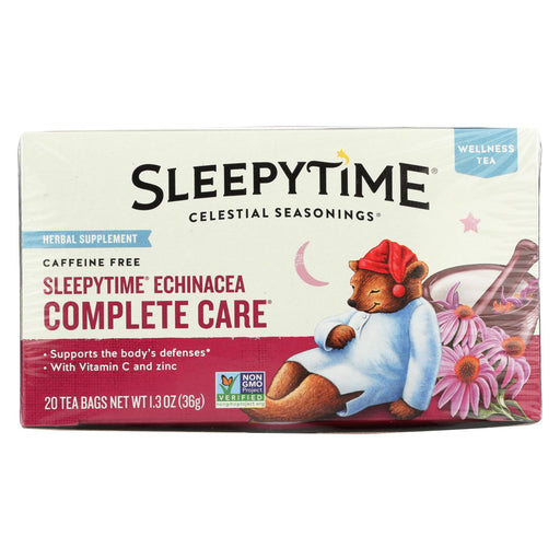 Celestial Seasonings Sleepytime Echinacea Complete Care Wellness Tea - 20 Tea Bags - Case Of 6