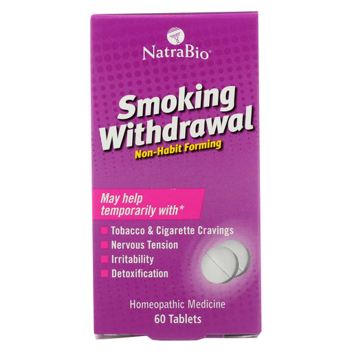 Natrabio Smoking Withdrawl Non-habit Forming - 60 Tablets