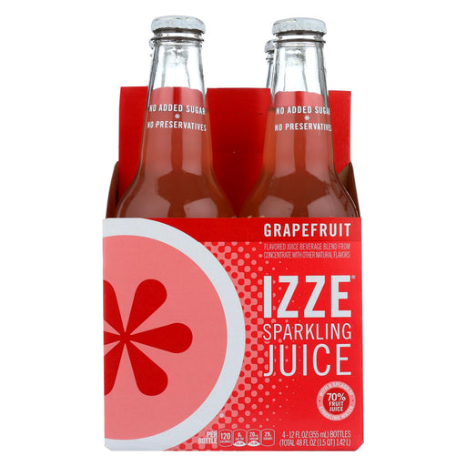 Izze Sparkling Juice - Grapefruit - Case Of 6 - 12 Fl Oz.