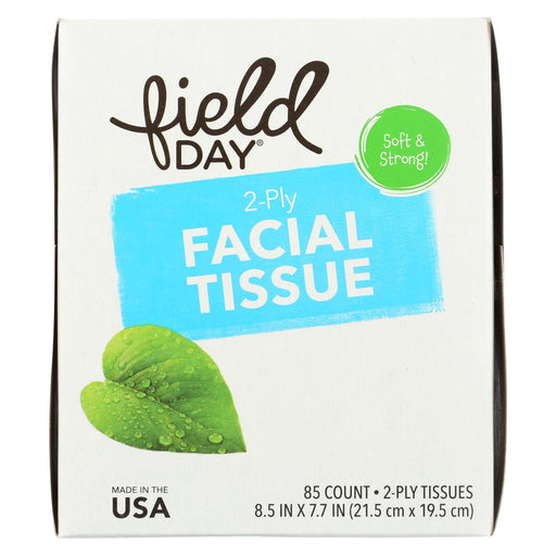 Field Day Facial Tissue - 100 Percent Recycled - 2-ply - 85 Sheets Each - Case Of 36