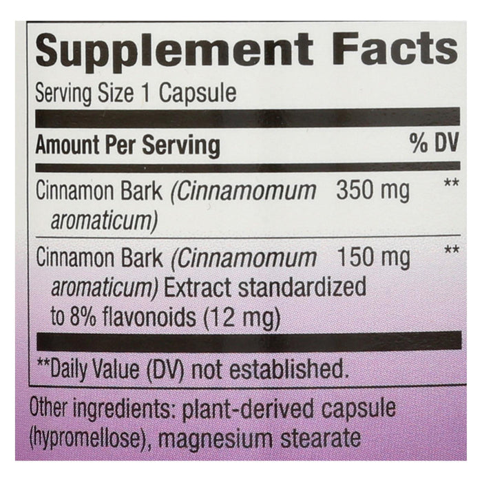 Nature's Way Cinnamon Standardized - 60 Vcaps