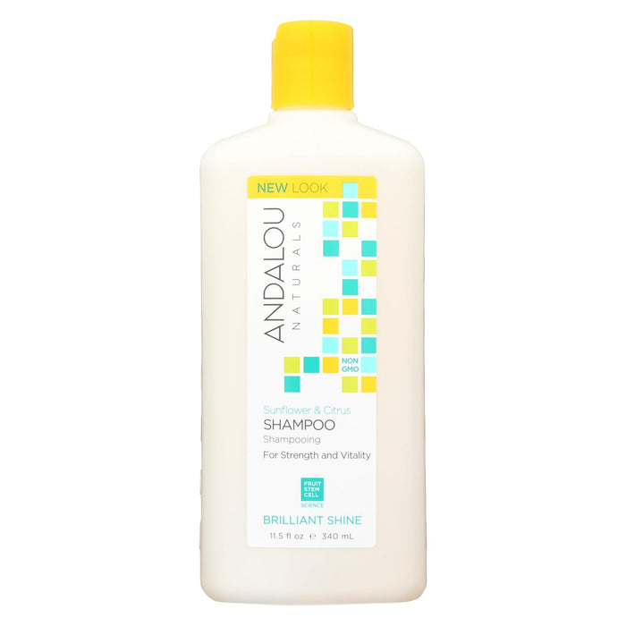 Andalou Naturals Brilliant Shine Shampoo Sunflower And Citrus - 11.5 Fl Oz