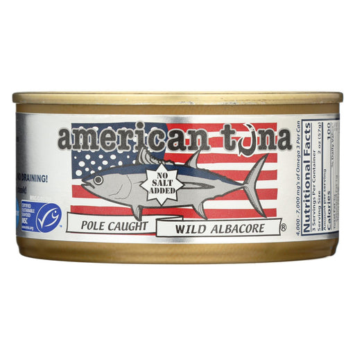 American Tuna  No Salt - Case Of 24 - 6 Oz